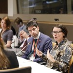 Photo ©UN Women/Jodie Mann: Catherine Marchi-Uhel, head of the  International, Impartial and Independent Mechanism for Syria, addresses New York event alongside Richard Arbeiter, Deputy Permanent Representative of the Permanent Mission of Canada to the UN